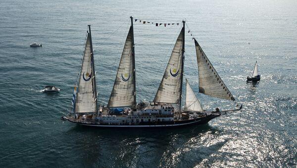 El buque escuela Capitán Miranda de la Armada de Uruguay - Sputnik Mundo