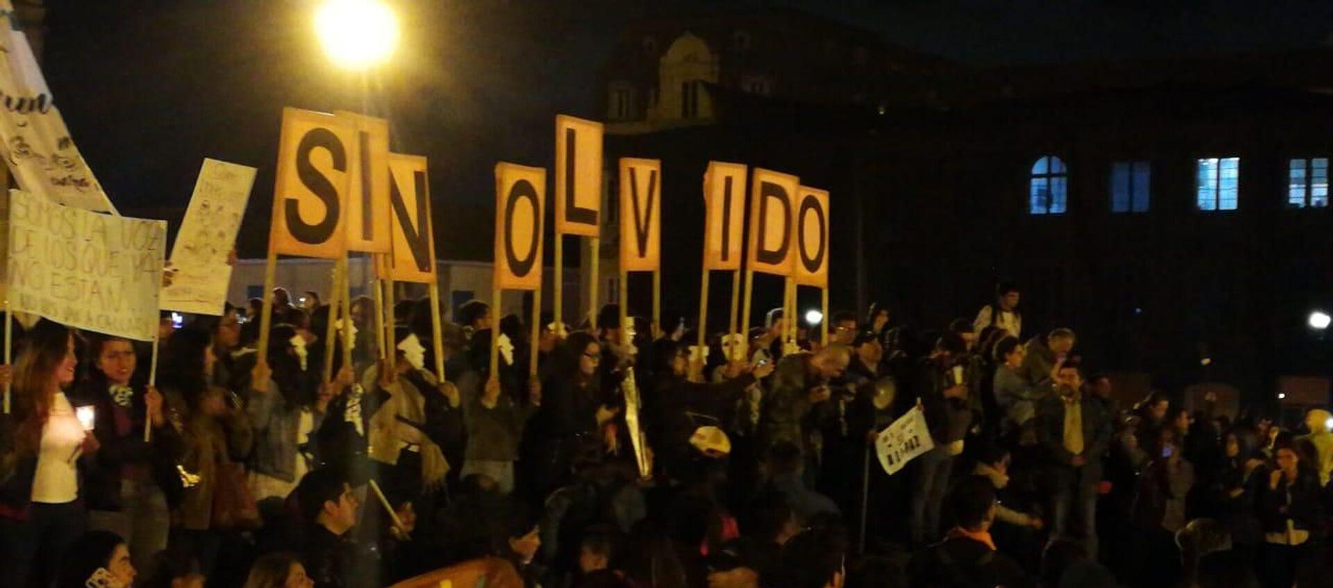 Protesta en Bogotá por los asesinatos de los líderes sociales en Colombia - Sputnik Mundo, 1920, 27.01.2021