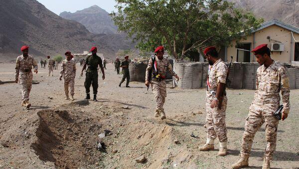 Lugar del ataque realizado con misiles en la ciudad yemení de Adén - Sputnik Mundo