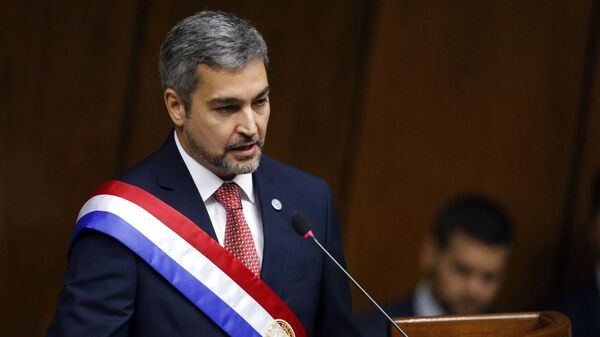 Mario Abdo Benítez, presidente de Paraguay - Sputnik Mundo