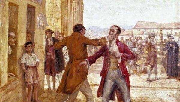 Pelea entre Luis de Rubio y José González Llorente - Sputnik Mundo