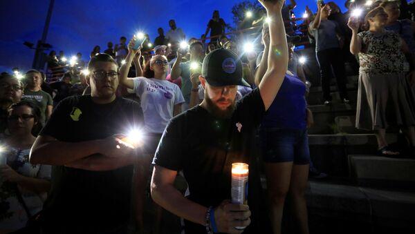 Ceremonia de luto tras masacre en El Paso (EEUU), el 3 de agosto de 2019 - Sputnik Mundo