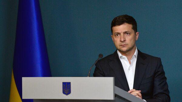 El presidente ucraniano, Volodímir Zelenski - Sputnik Mundo