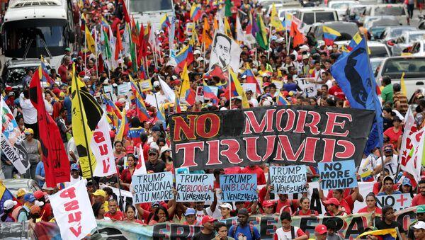 Marcha en Caracas en contra de las agresiones de EEUU - Sputnik Mundo