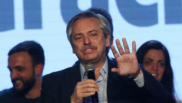 Candidato a la presidencia argentina, Alberto Fernández - Sputnik Mundo