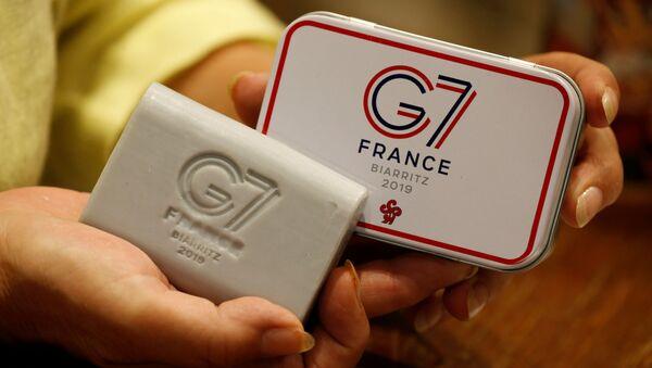 Logo de la cumbre del G7 en Biarritz, Francia - Sputnik Mundo