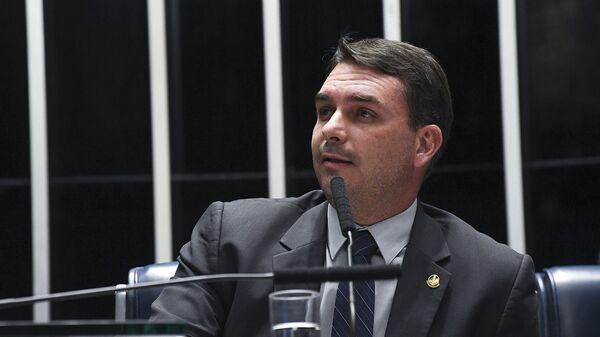 Flávio Bolsonaro, hijo del presidente brasileño Jair Bolsonaro (archivo) - Sputnik Mundo