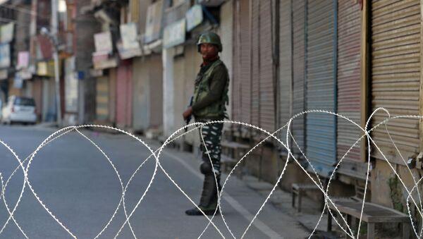 Fuerzas de seguridad de la India en Cachemira - Sputnik Mundo
