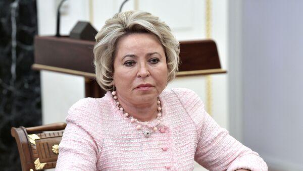 Valentina Matvienko como presidenta del Senado - Sputnik Mundo