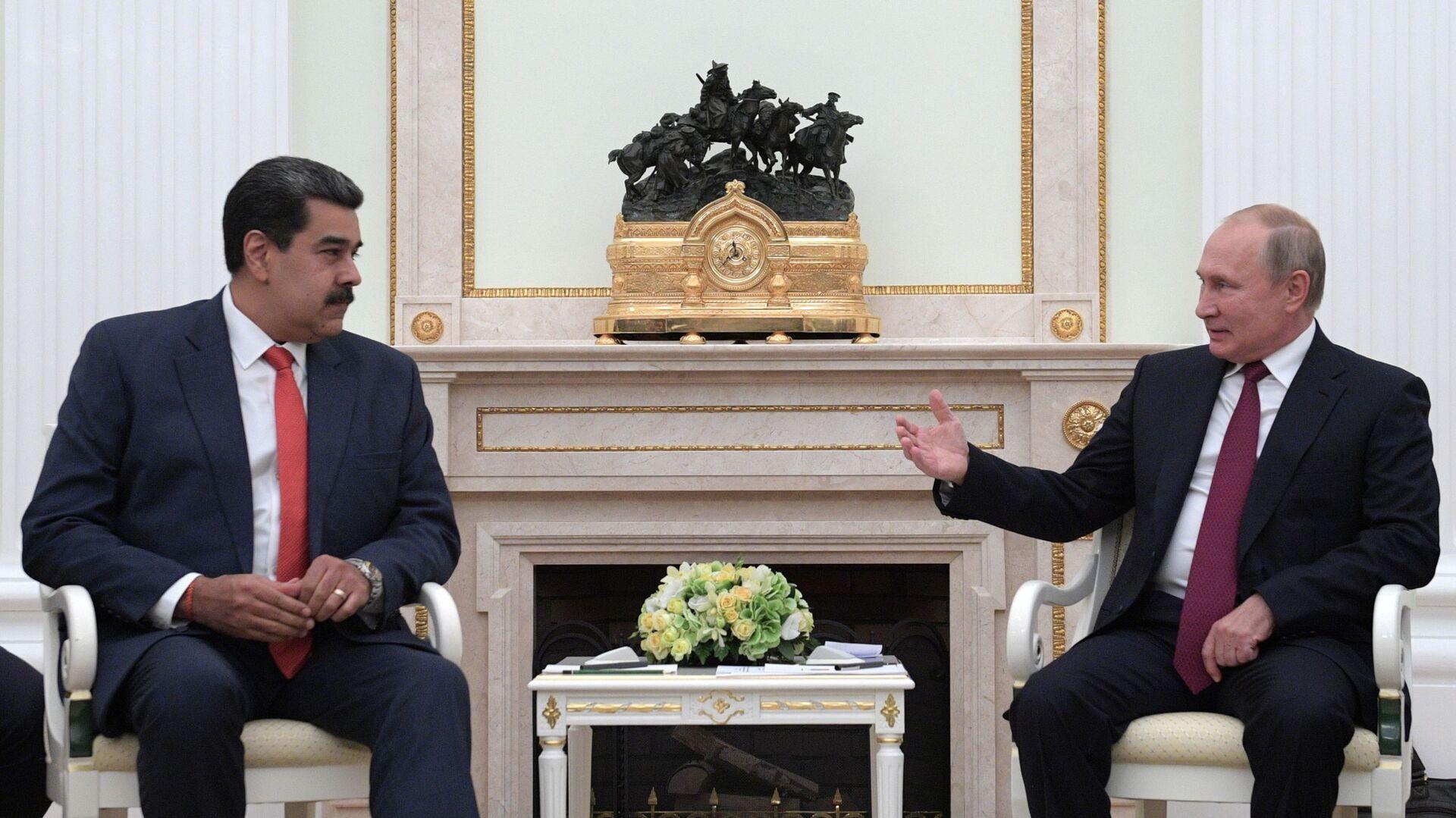 El presidente de Venezuela, Nicolás Maduro y el presidente de Rusia, Vladímir Putin - Sputnik Mundo, 1920, 23.09.2021