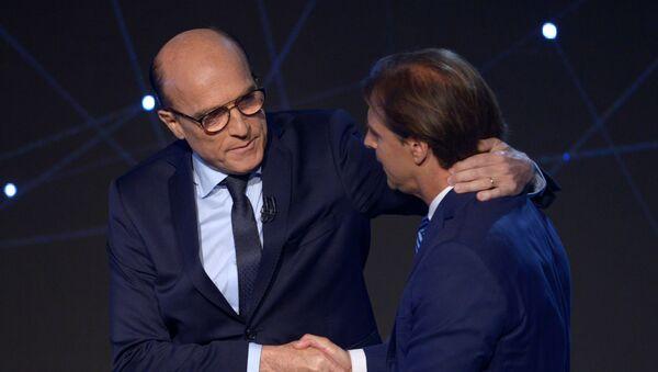 Los dos candidatos principales para las elecciones en Uruguay, Daniel Martínez y Luis Lacalle - Sputnik Mundo