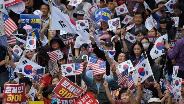 Protestas antigubernamentales en Corea del Sur - Sputnik Mundo