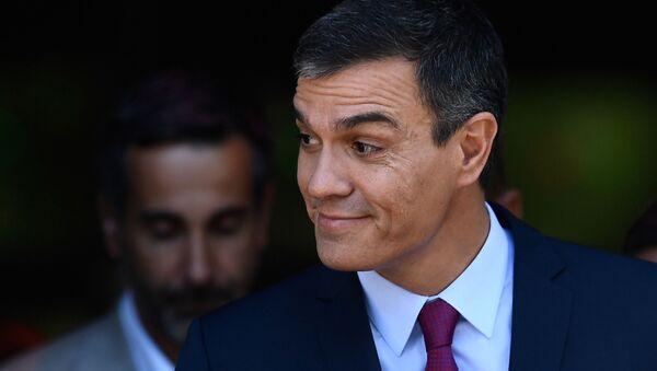 El presidente en funciones del Gobierno español, Pedro Sánchez - Sputnik Mundo