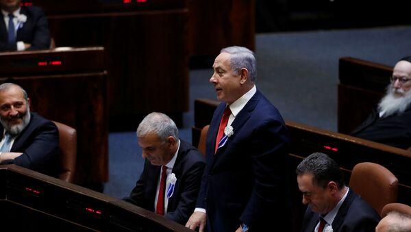 Benjamín netanyahu, primer ministro israelí en funciones - Sputnik Mundo