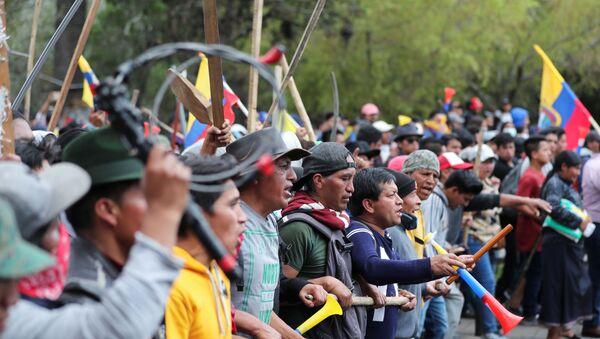 Las protestas en Ecuador - Sputnik Mundo