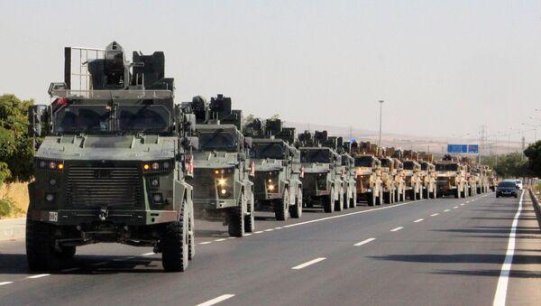 Un convoy militar turco en Siria - Sputnik Mundo