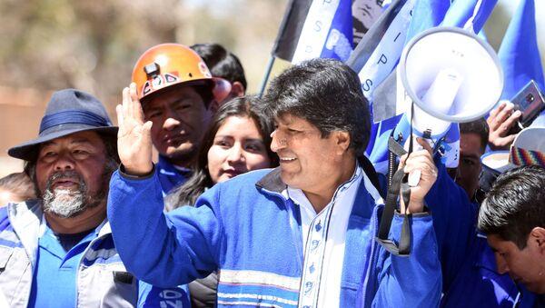 Evo Morales durante su campaña electoral - Sputnik Mundo