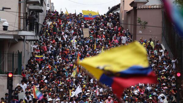 Movilizaciones contra el Gobierno de Lenín Moreno en Quito, Ecuador - Sputnik Mundo