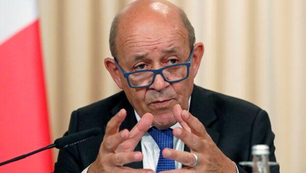 Jean-Yves Le Drian, el ministro de Exteriores de Francia - Sputnik Mundo