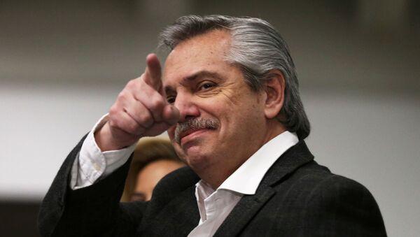 Alberto Fernández, líder opositor argentino - Sputnik Mundo