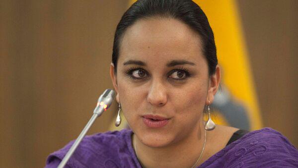 Gabriela Rivadeneira, asambleísta del movimiento político de Rafael Correa (archivo) - Sputnik Mundo