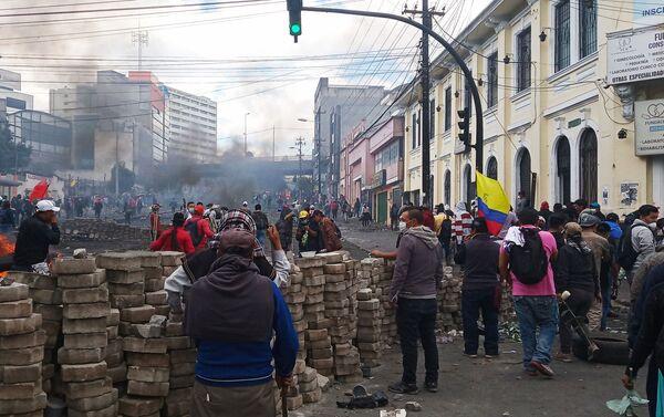 Protestas en Quito - Sputnik Mundo