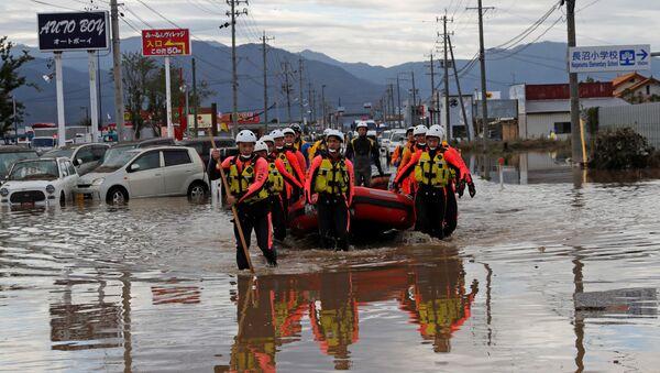 Área afectada por el tifón Hagibis en Japón - Sputnik Mundo