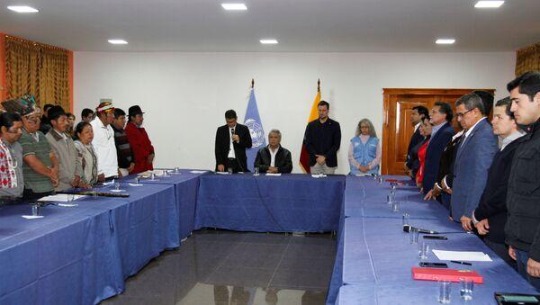 El diálogo entre el Gobierno de Ecuador y los movimientos indígenas - Sputnik Mundo