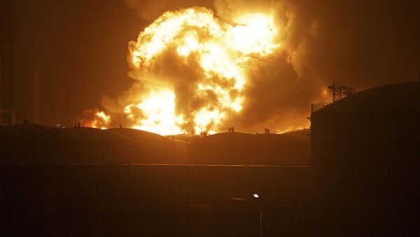 Explosión en una planta química en China (archivo) - Sputnik Mundo