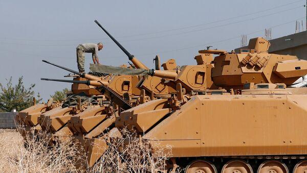 Blindados turcos en Siria - Sputnik Mundo