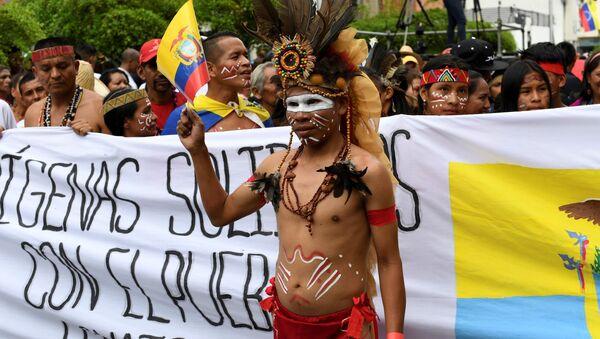 Manifestación de los indígenas venezolanos - Sputnik Mundo