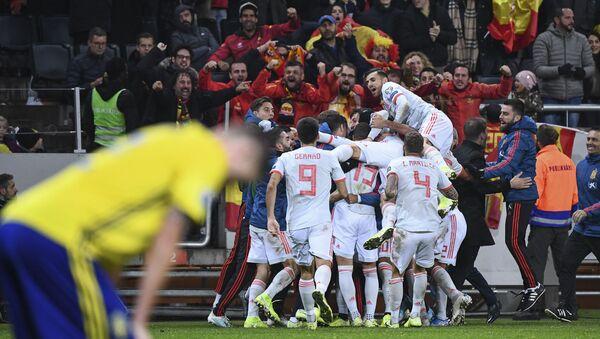 Victoria de la selección de España ante Suecia en el Friends Arena de Estocolmo, el 16 de octubre de 2019 - Sputnik Mundo