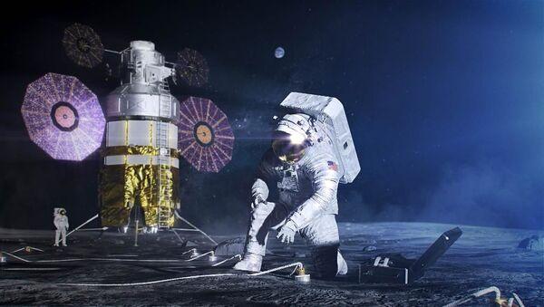 Un astronauta en la Luna, imagen ilustrativa - Sputnik Mundo