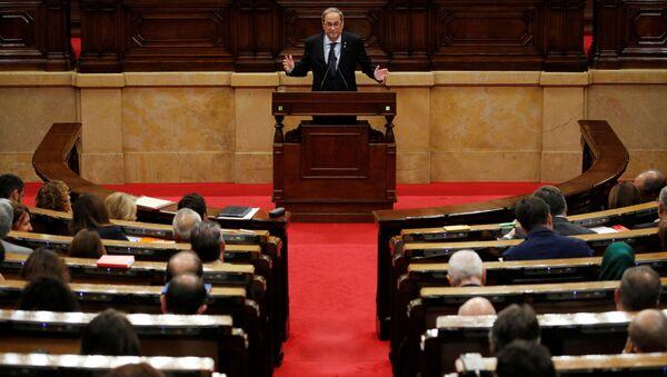 Quim Torra da su discurso en el Parlamento catalán - Sputnik Mundo