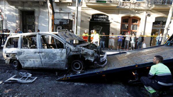 Consecuencias de las protestas en Barcelona - Sputnik Mundo