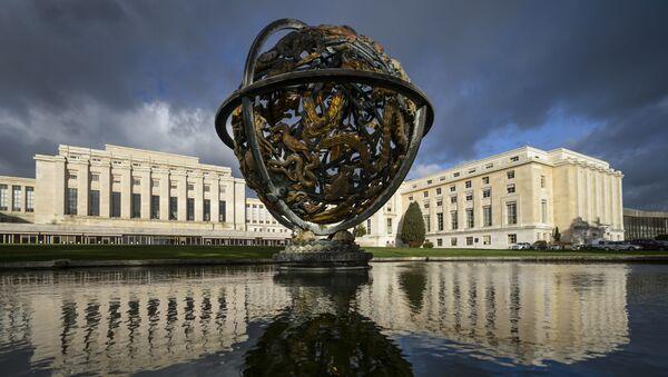 Sede de las Naciones Unidas (ONU) en Ginebra, Suiza - Sputnik Mundo