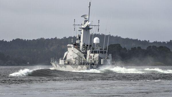 La corveta sueca HMS Stockholm (archivo) - Sputnik Mundo
