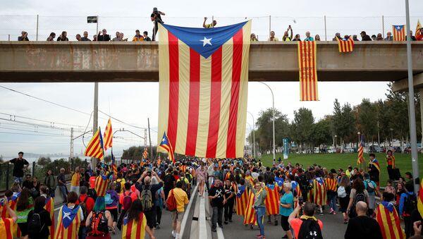 Las protestas en Cataluña - Sputnik Mundo