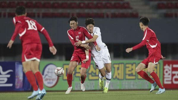 El partido entre Corea del Norte y Corea del Sur - Sputnik Mundo