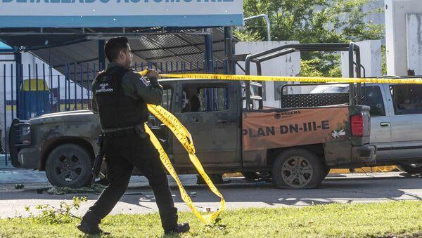 Consecuencias del tiroteo en la ciudad mexicana de Culiacán, el 18 de octubre de 2019 - Sputnik Mundo