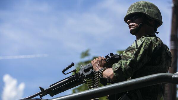Convoy militar del Ejército de México (archivo) - Sputnik Mundo