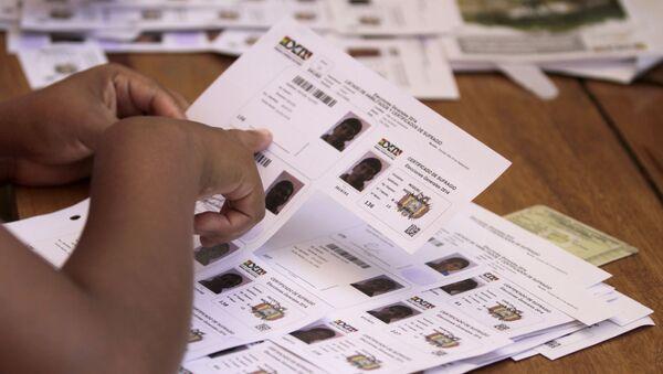 Los votantes habilitados para las elecciones en Bolivia (archivo) - Sputnik Mundo