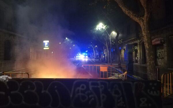 Protestas de los independentistas en Barcelona - Sputnik Mundo