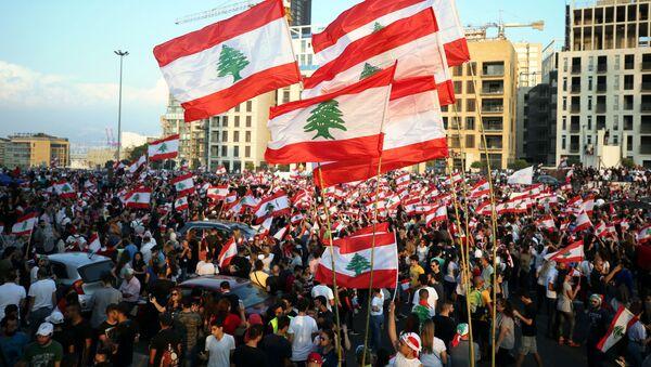 Las protestas en el Líbano - Sputnik Mundo