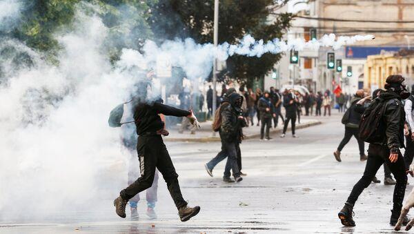 Las protestas en Chile - Sputnik Mundo