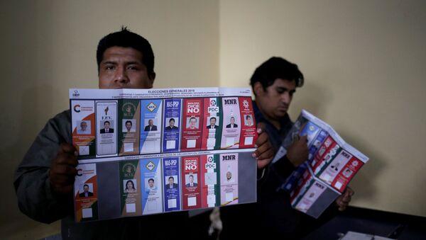 Las mesas de sufragio realizan el conteo de votos - Sputnik Mundo