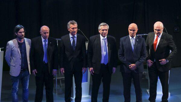 Los candidatos presidenciales de Argentina  - Sputnik Mundo