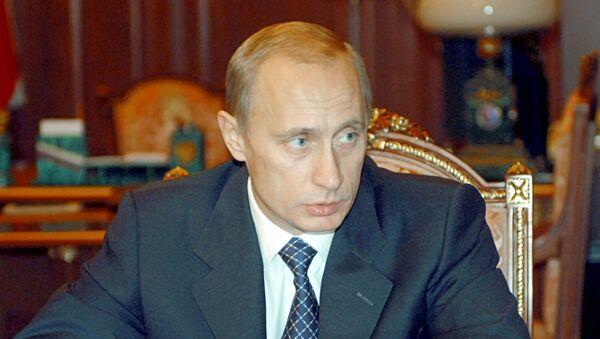Vladímir Putin, el presidente ruso (archivo, el año 2002)  - Sputnik Mundo