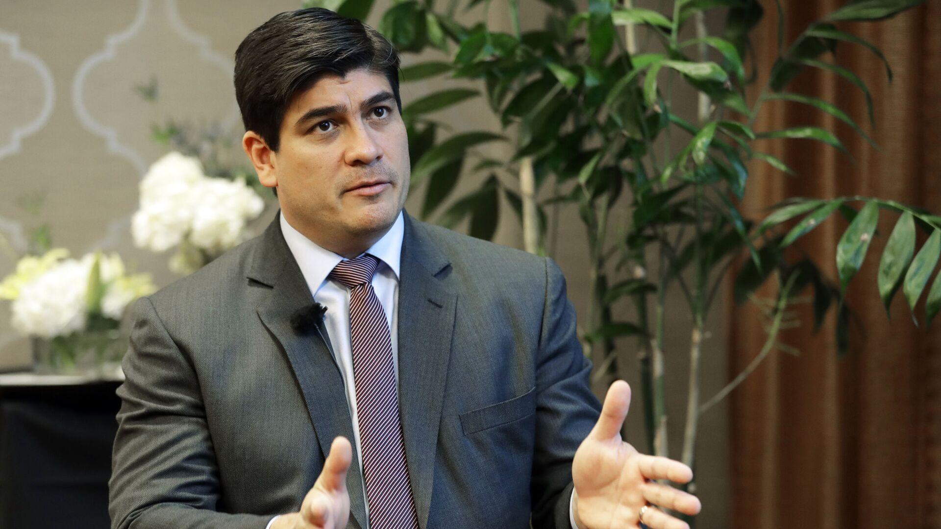 Carlos Alvarado, presidente de Costa Rica - Sputnik Mundo, 1920, 05.02.2021