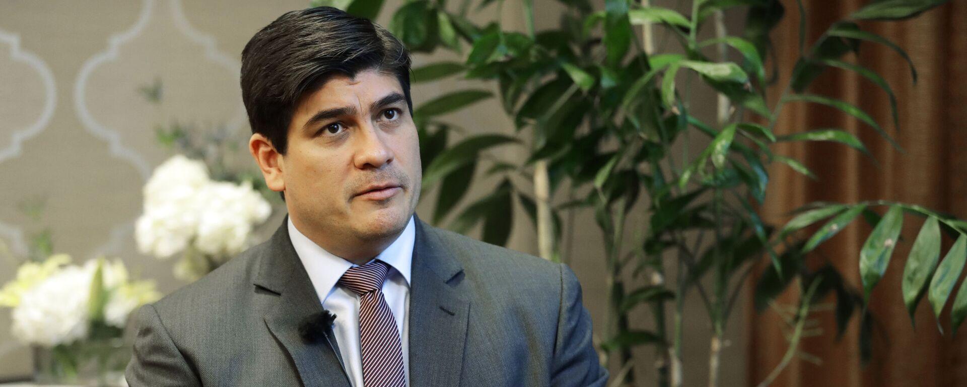 Carlos Alvarado, presidente de Costa Rica - Sputnik Mundo, 1920, 03.06.2021